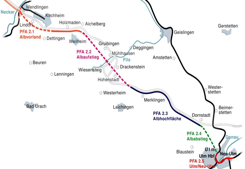 ICE-Neubaustrecke (NBS) Wendlingen-Ulm